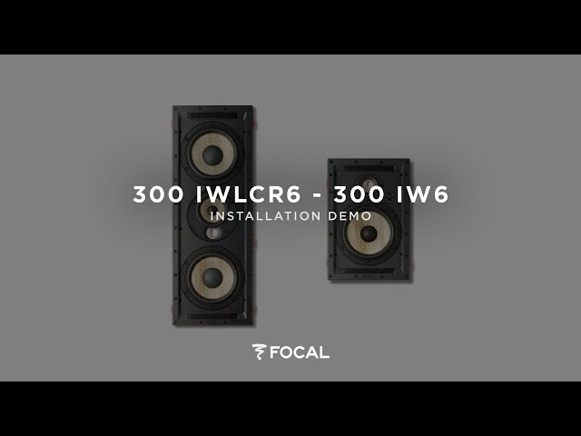 How to install 300 Series 300IWLCR6 & 300IW6 integration loudspeakers ?