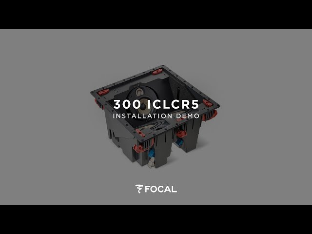 How to install Focal 300 Series 300ICLCR5W integration loudspeakers ?