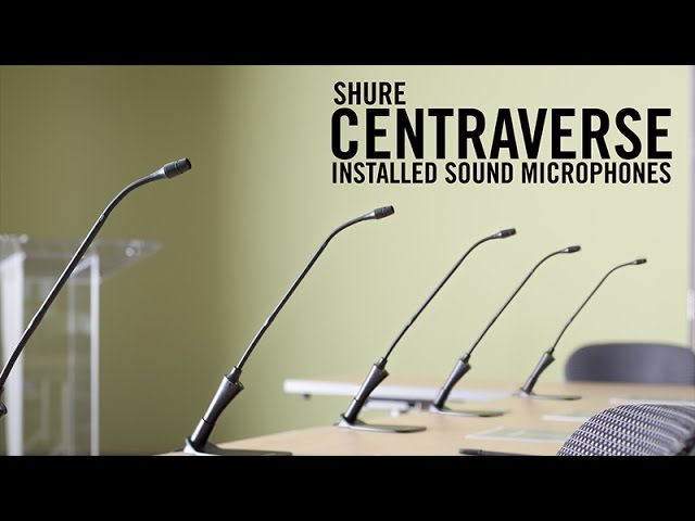 Shure Centraverse™ Installed Sound Microphones