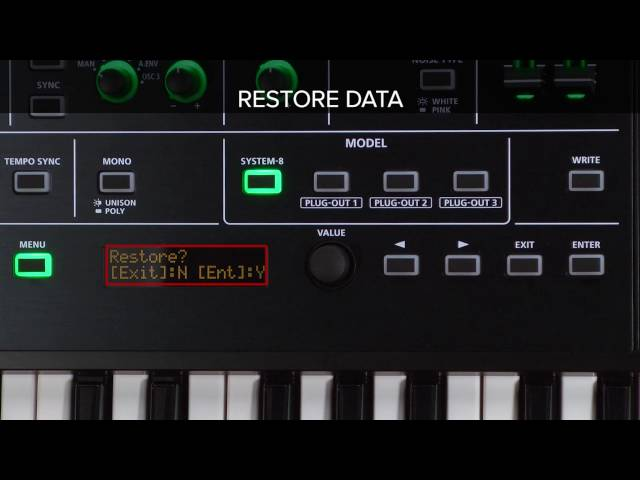 "SYSTEM-8 Quick Start 03 ""Restoring Backed Up Data from SD Card (RESTORE)"""