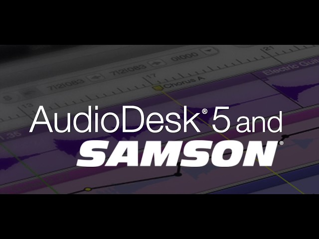 Getting started with AudioDesk and your new Samson mic