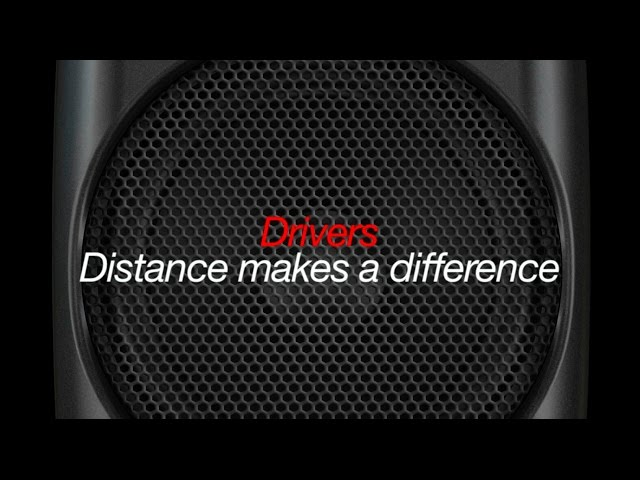 iLoud Micro Monitor  - 6. Drivers. Distance makes a difference