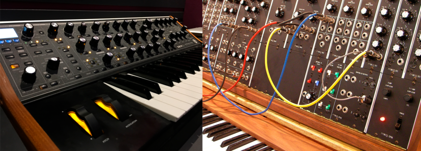 Fixed architecture(Moog Sub 37) vs. Modular architecture (Moog Modular Systems)