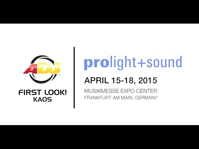 First Look! ADJ Kaos @ Prolight + Sound 2015