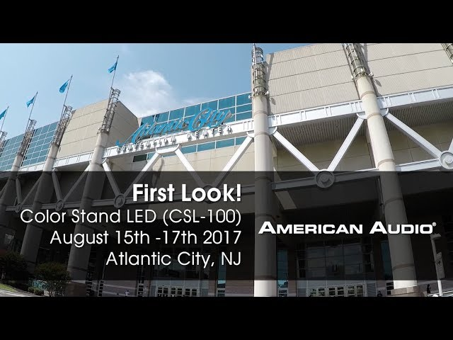 "American Audio Color Stand LED ""First Look!"" DJ Expo 2017"