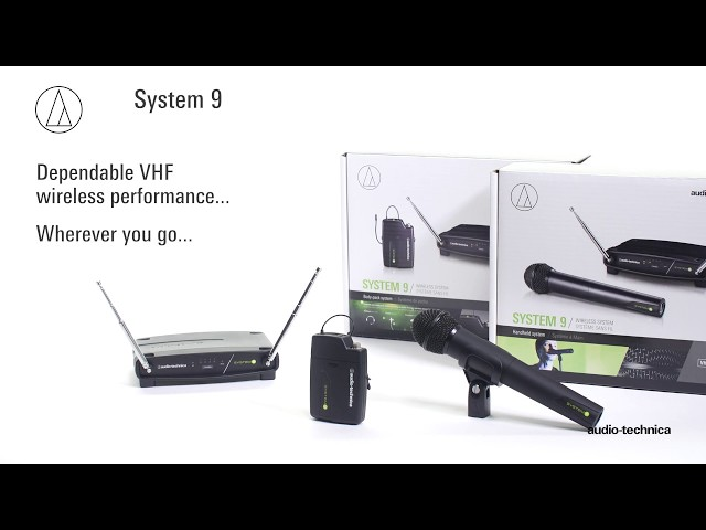 Audio-Technica System 9 Frequency-agile VHF Wireless Systems