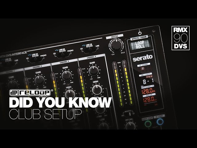 Reloop RMX-90 DVS DJ Club Mixer - How To Enter Club Setup Utility - Did You Know? (Tutorial)