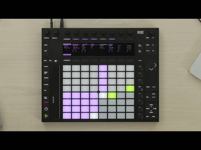 Ableton Push 2 – Playing drums