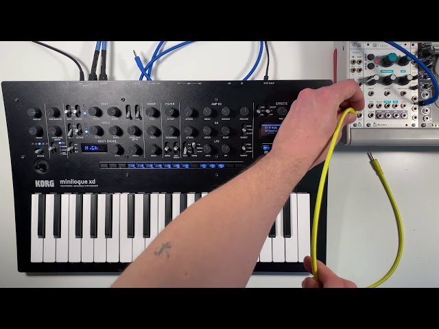 Patch of the Week 30: minilogue xd + randomly generated Eurorack ambience