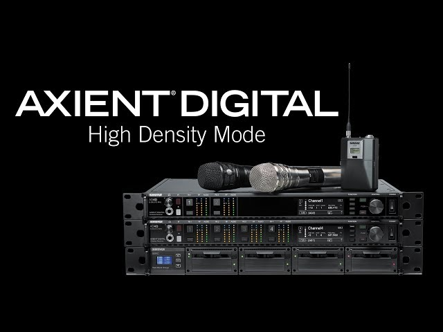 Shure Axient Digital Training - High Density Mode