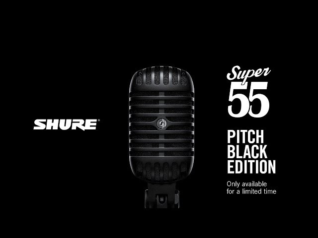 The Super 55 Deluxe Vocal Microphone Pitch Black Edition