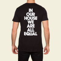 DEFECTED - IN OUR HOUSE WE ARE ALL EQUAL MENS BLACK T-SHIRT по цене 2 690 руб.