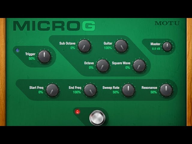 MicroG™ Polyphonic octave generator for guitar