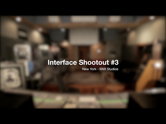 Focusrite // Interface Shootout #3 - New York