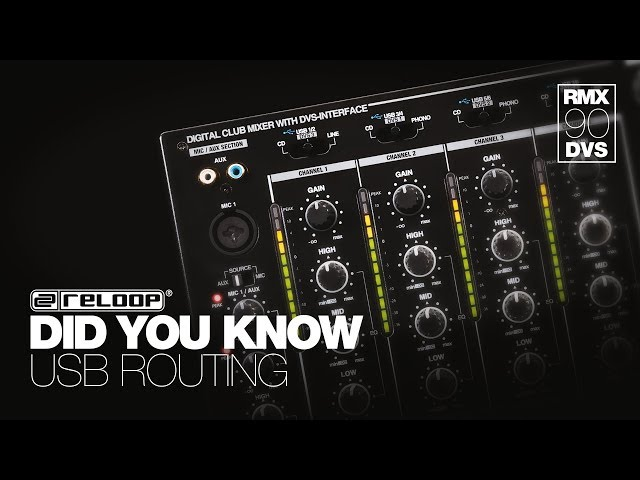Reloop RMX-90 DVS DJ Club Mixer - How To Set Up USB Routing - Did You Know? (Tutorial)