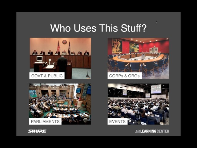 Shure Webinar: How to Specify a Discussion / Conference System