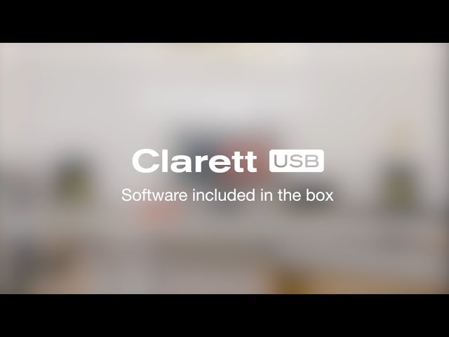Focusrite // Software included with the Clarett range