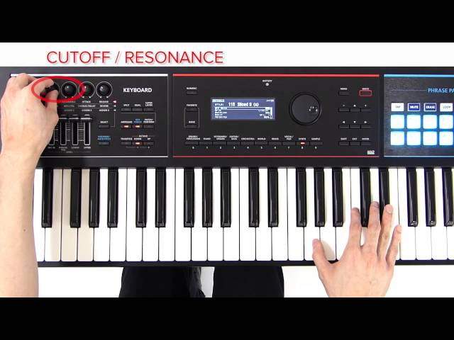 "JUNO-DS Quick Start 06 ""Playing Techno Sounds"" (Arpeggio, Cutoff/Resonance Knobs)"