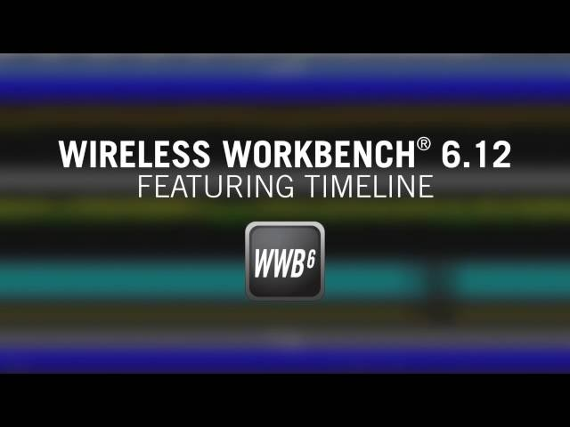 Overview of Timeline Feature in Shure Wireless Workbench® 6.12