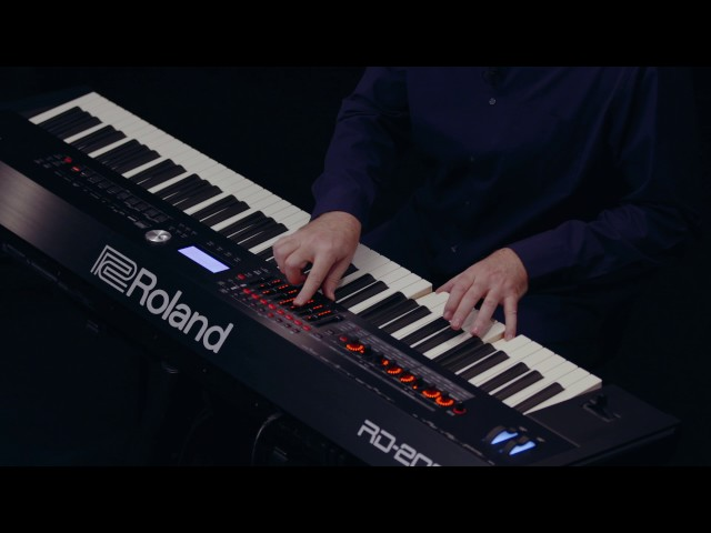 Roland RD-2000 walk-through :  8-Zone demo