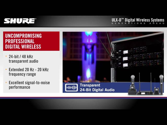Shure ULX-D Digital Wireless Systems Product Overview