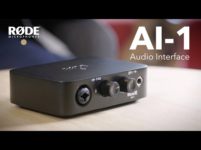 Introducing the RØDE AI-1 Studio Quality Audio Interface