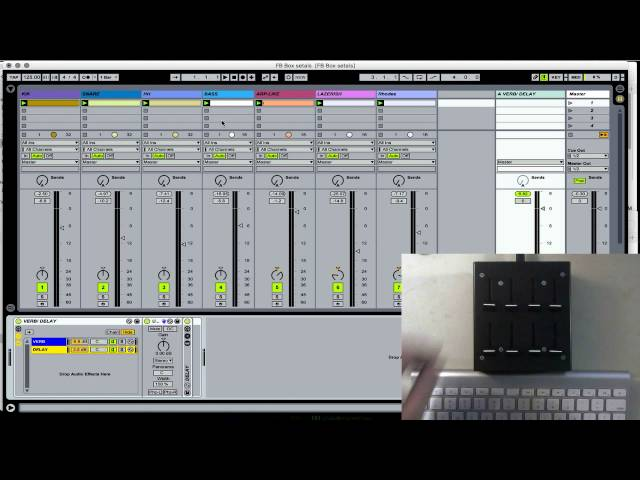 "Fader Box - ""Send A"" Ableton Live User Remote Script ""How To"""