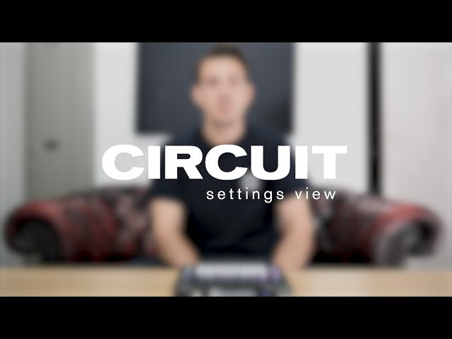 Novation // Circuit 1.6 - Settings view