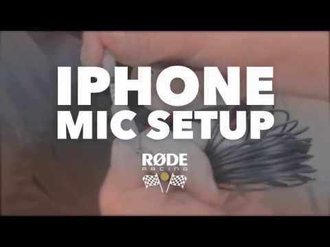 RODE Racing - iPhone Microphone Setup
