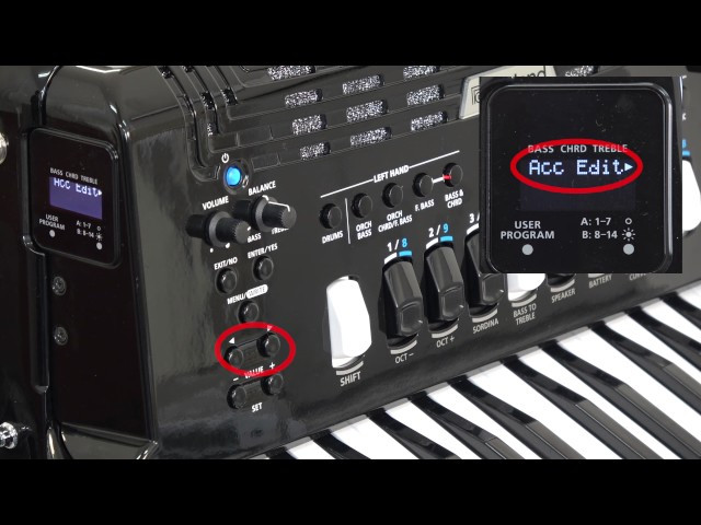 "Roland FR-4x/FR-4xb V-Accordion ""Menu Options"""