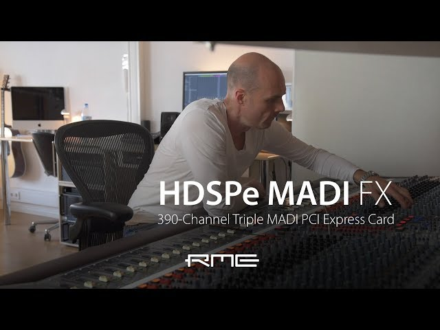 RME Audio HDSPe MADI FX at Riverside Studios Berlin