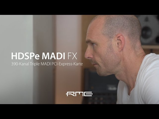 Martin Eyerer & RME HDSPe MADI FX German Version