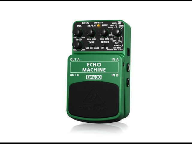 ECHO MACHINE EM600 Ultimate Echo Modeling Effects Pedal