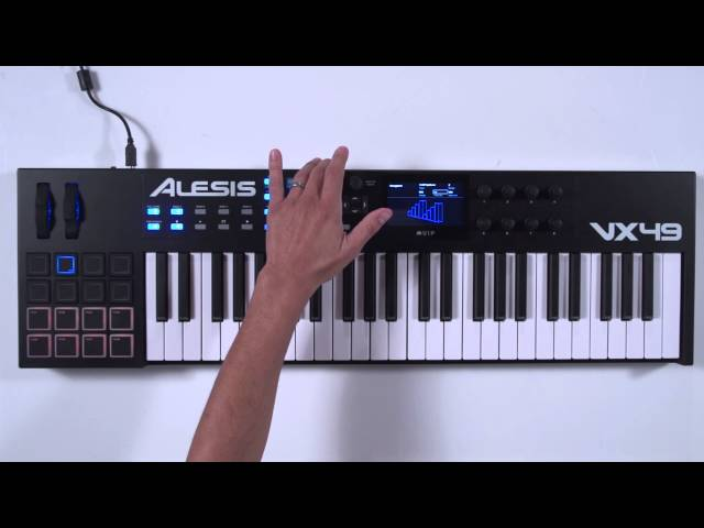 Arpeggiator function of the Alesis VX49