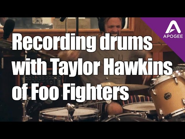 Recording drums with Taylor Hawkins at Foo Fighters Studio 606