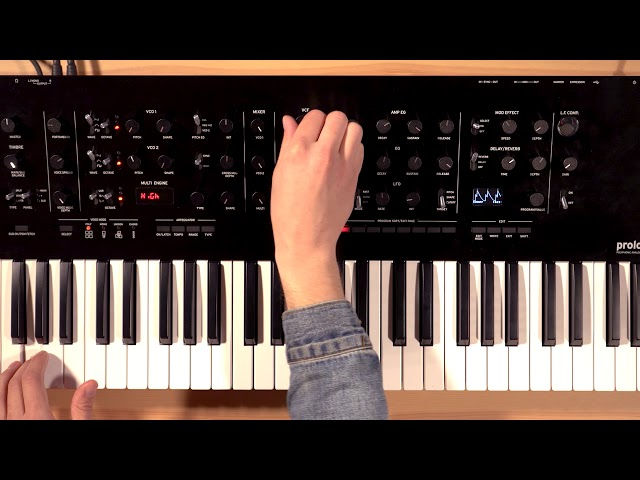 Korg Prologue Overview/Tutorial Part 3: Filter