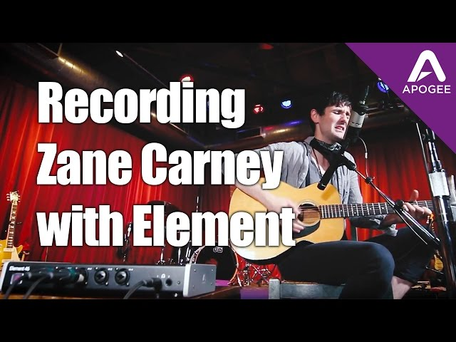 "Recording Zane Carney ""Better Man"" with Apogee Element 46"