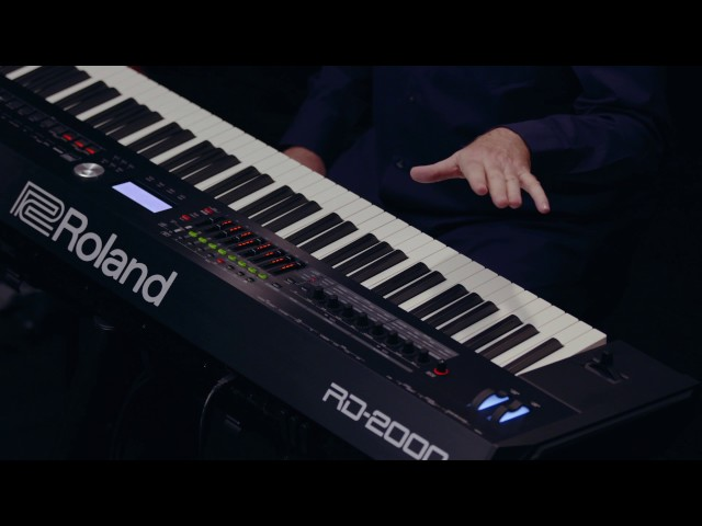 Roland RD-2000 walk-through :  Scene Function demo