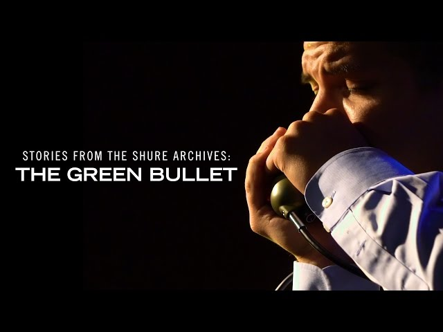 Stories from the Shure Archives: The Green Bullet Harmonica Microphone