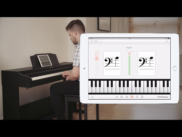 Roland RP102 Digital Piano:   Have Fun and Learn Faster with Piano Partner 2