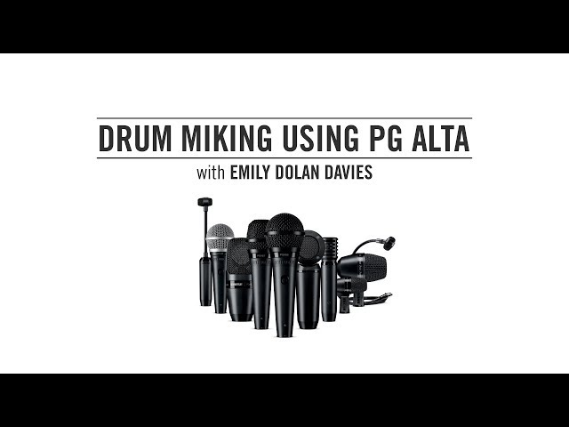 Drum miking using Shure PG ALTA with Emily Dolan Davies