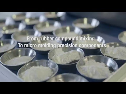 From rubber compound mixing to micro molding precision components