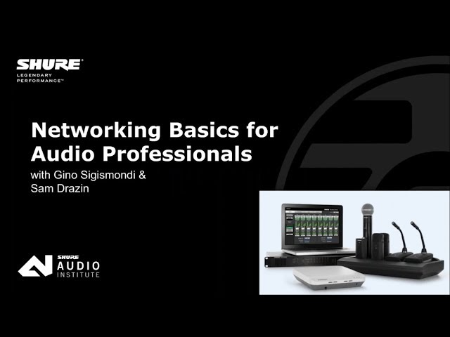 Ethernet Networking Basics for Audio Professionals
