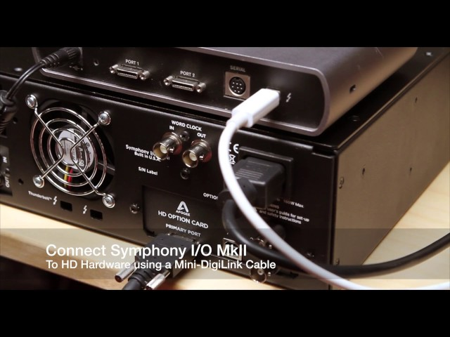 Apogee Symphony I/O Mk II - Getting started with Pro Tools HD