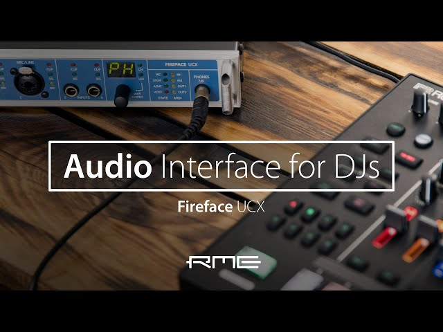DJ with the Fireface UCX Audio Interface and Traktor Pro