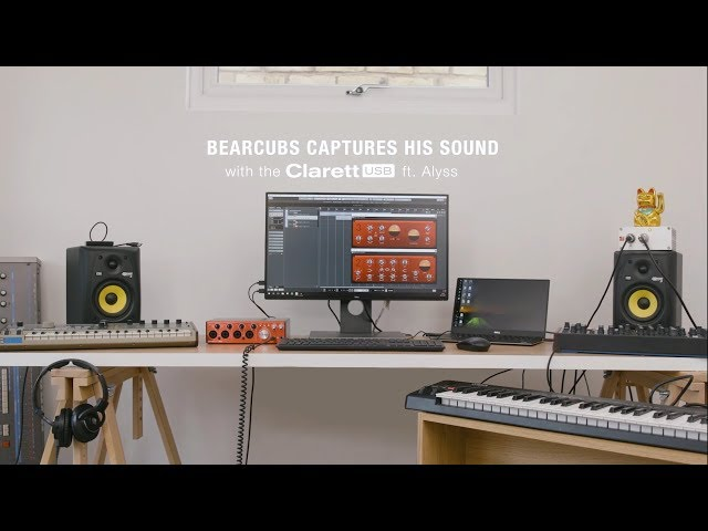 Focusrite // The Clarett 4Pre USB with Bearcubs