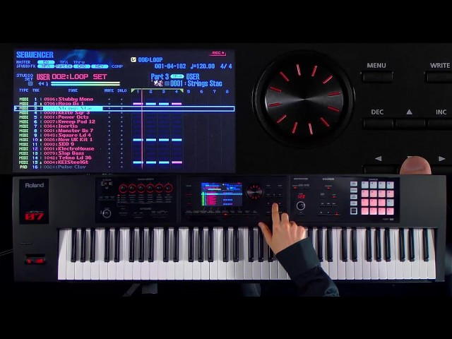 Roland FA-06/FA-07/FA-08 Music Workstation walk-through 4: Continuous recording in loop mode