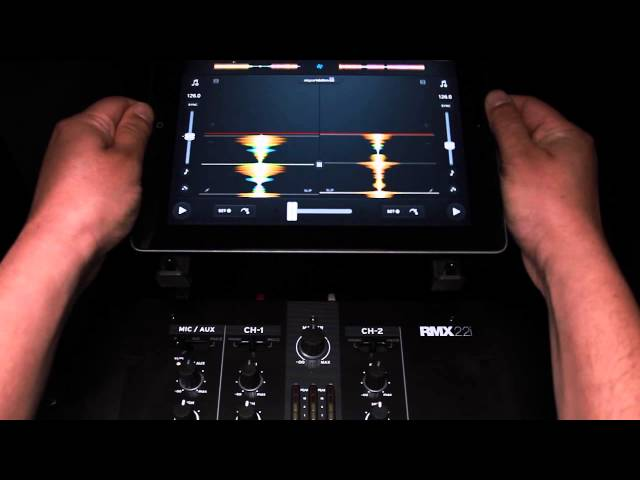 How to connect your Tablet / Smartphone with the Reloop RMX-22i & 33i DJ Mixers