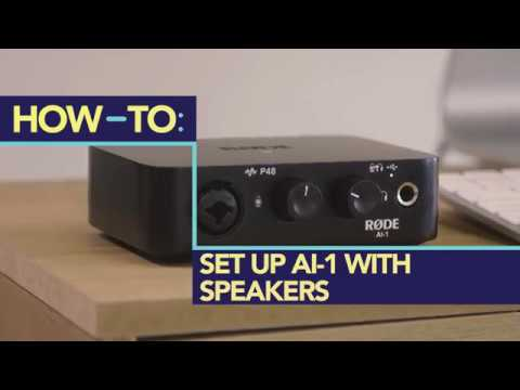 How to Record using Speakers with the RØDE AI-1