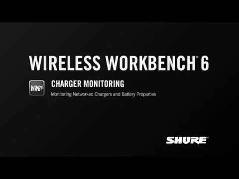 Shure WWB6: Charger Monitoring
